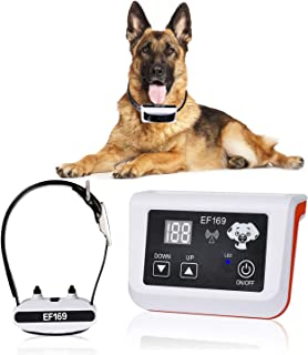 Best New Wireless Dog Fence, Pet Containment System, Pets Dog Containment System Boundary Container with IP65 Waterproof Dog Training Collar Receiver, Adjustable Range, Harmless for All Dogs.White. Review