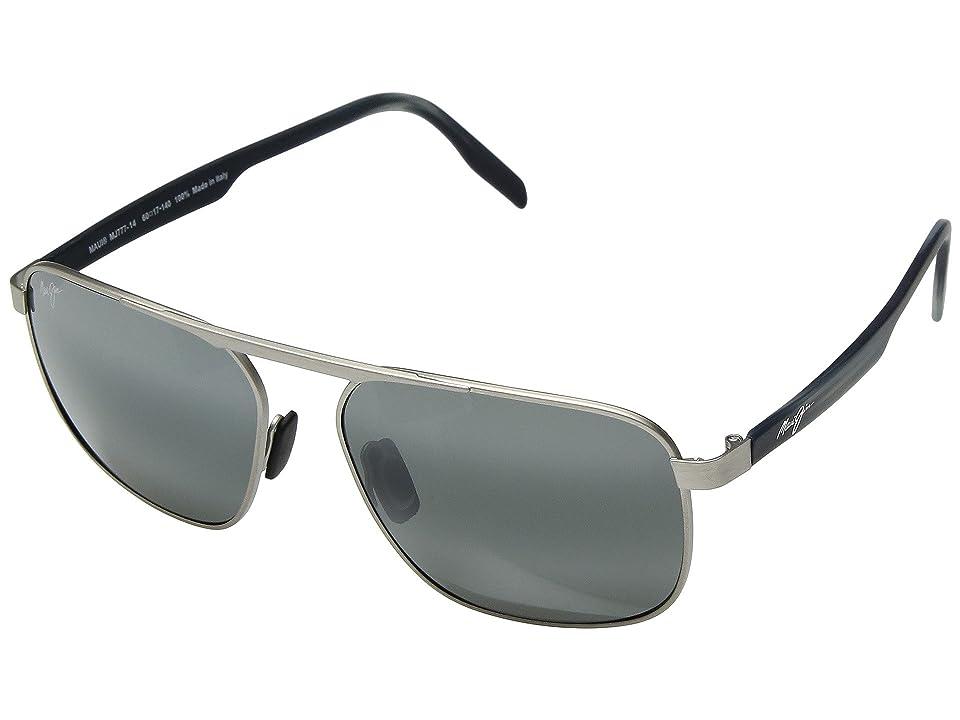 Maui Jim Waihee Ridge (Brushed Grey/Neutral Grey) Athletic Performance Sport Sunglasses