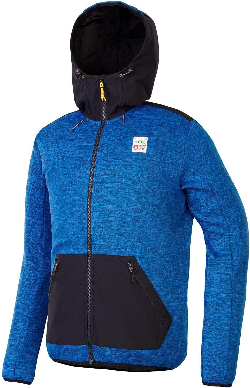 Picture Lago Mid Layer Jacket 2019 with Adjustable Hood & Front Zip Pocket in blueeL