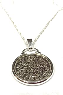 Cinch Pendant 1959 Lucky Sixpence 60th Birthday Plus a Sterling Silver 22in Chain
