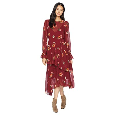 ASTR the Label Mona Dress (Burgundy Floral) Women
