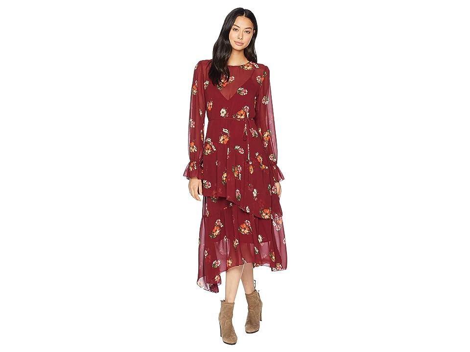 ASTR the Label Mona Dress (Burgundy Floral) Women