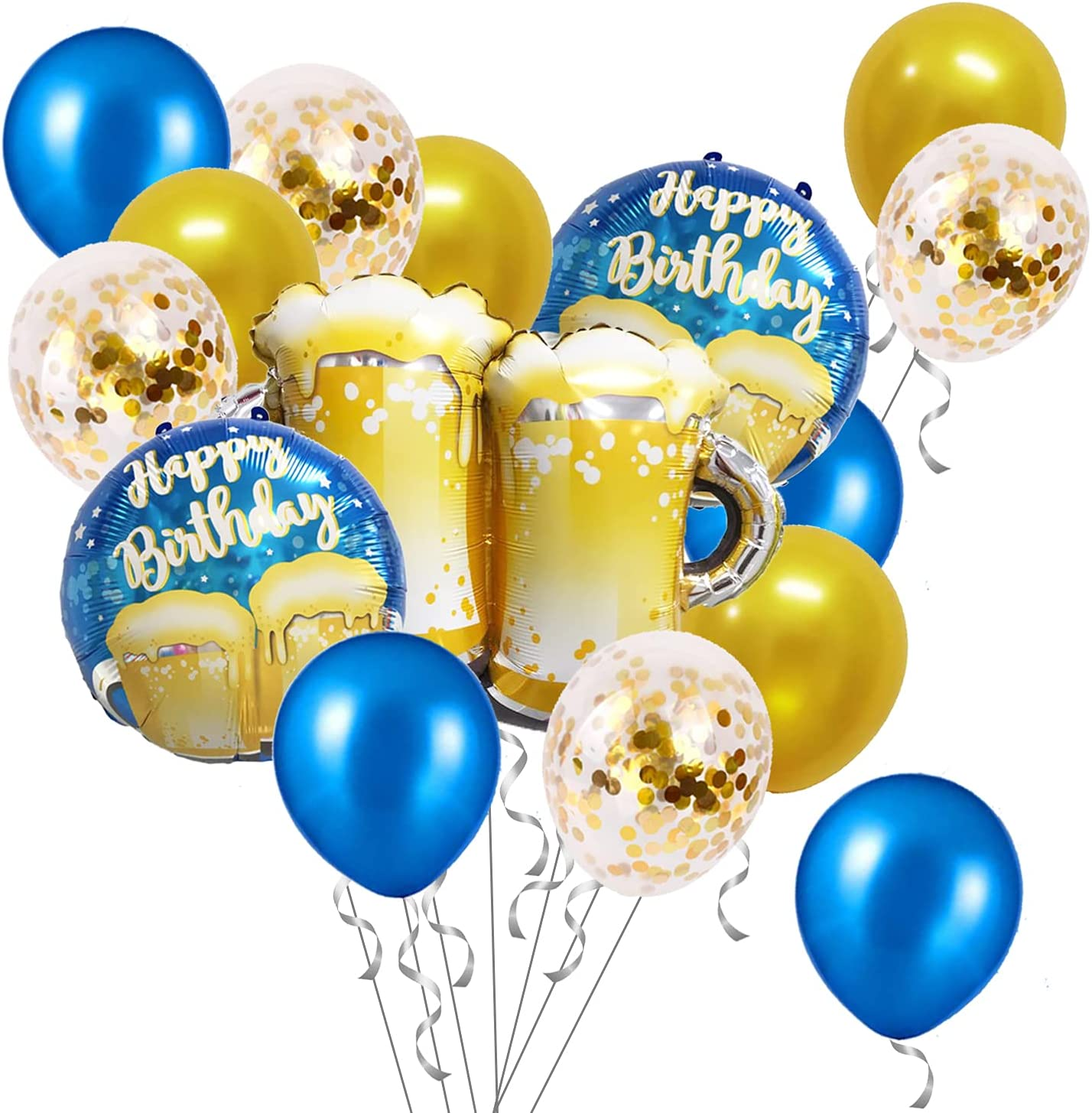 Max 43% OFF Birthday Party Balloons Beer Cheers New product! New type Glass Golden Wine