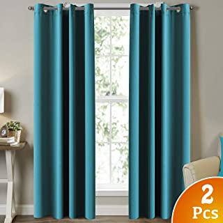 Best turquoise room darkening curtains Reviews
