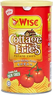 WISE Cottage Fries Potato Chips (Tomato Ketchup Flavor) 100g x 2 Packs (Hong Kong Version)