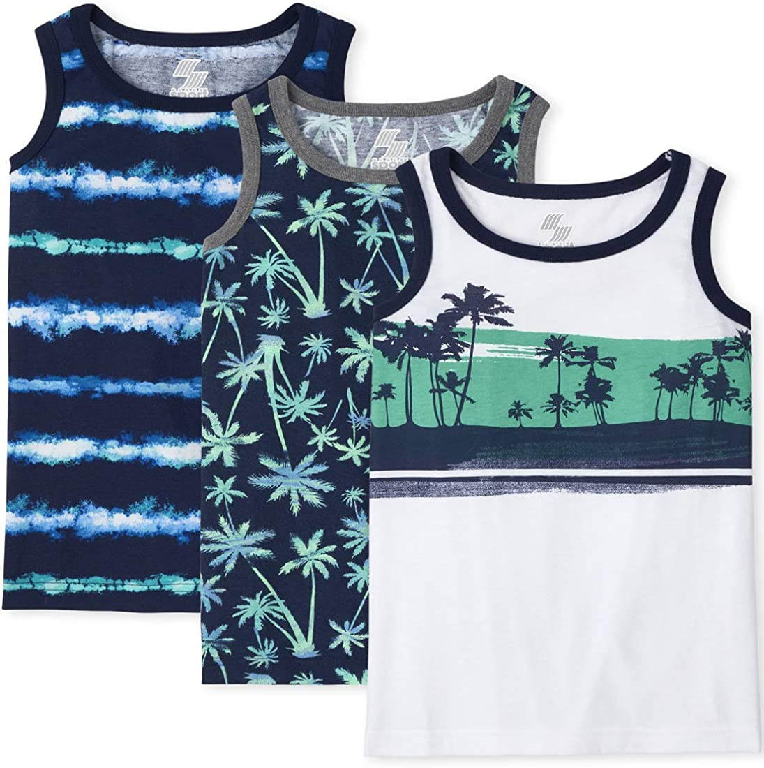 The Children's Place Boys Palm Tree Tank Top 3-Pack