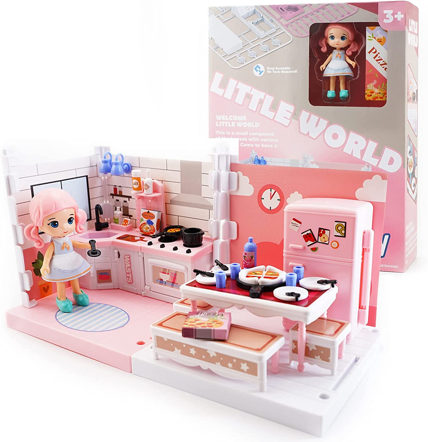 DIY Sales Miniature Dollhouse Kit Uorker Toys for Girls Do Max 80% OFF 3 Old Year