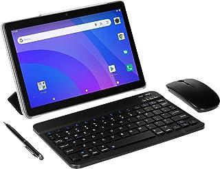 4G LTE Tablet 10 Zoll, SUMTAB Android 10.0 Tablet PC mit Tastatur, 8-Core, 4 GB RAM + 64 GB ROM, G + G Bildschirm, GPS, Bluetooth, Dual Stereo Lautsprecher,Unterstützung von Netflix, Google Play.…