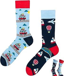 TODO COLOURS Calcetines casuales mixtos, diseño Adventure Trip, calcetines coloridos para individualistas