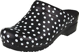 Sanita Fenja Mule Clog | Original Handmade Flexible Leather Clog for Women | Maximum stability | Anatomical shaped footbed...