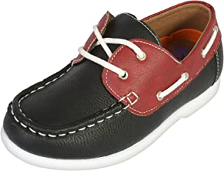 Jodano Collection Boys Slip on Boat Shoes Memory Foam Insole (Toddler/Little Kids/Big Kids)