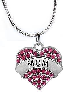 Sister Mom Dance Best Friend Heart Pendant Necklace Women Girl Stainless Steel Chain
