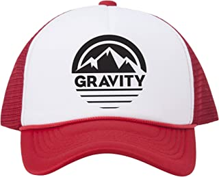 Gravity Outdoor Co. Mountain Stripe Logo Adjustable Mesh Trucker Hat w/Rope Brim