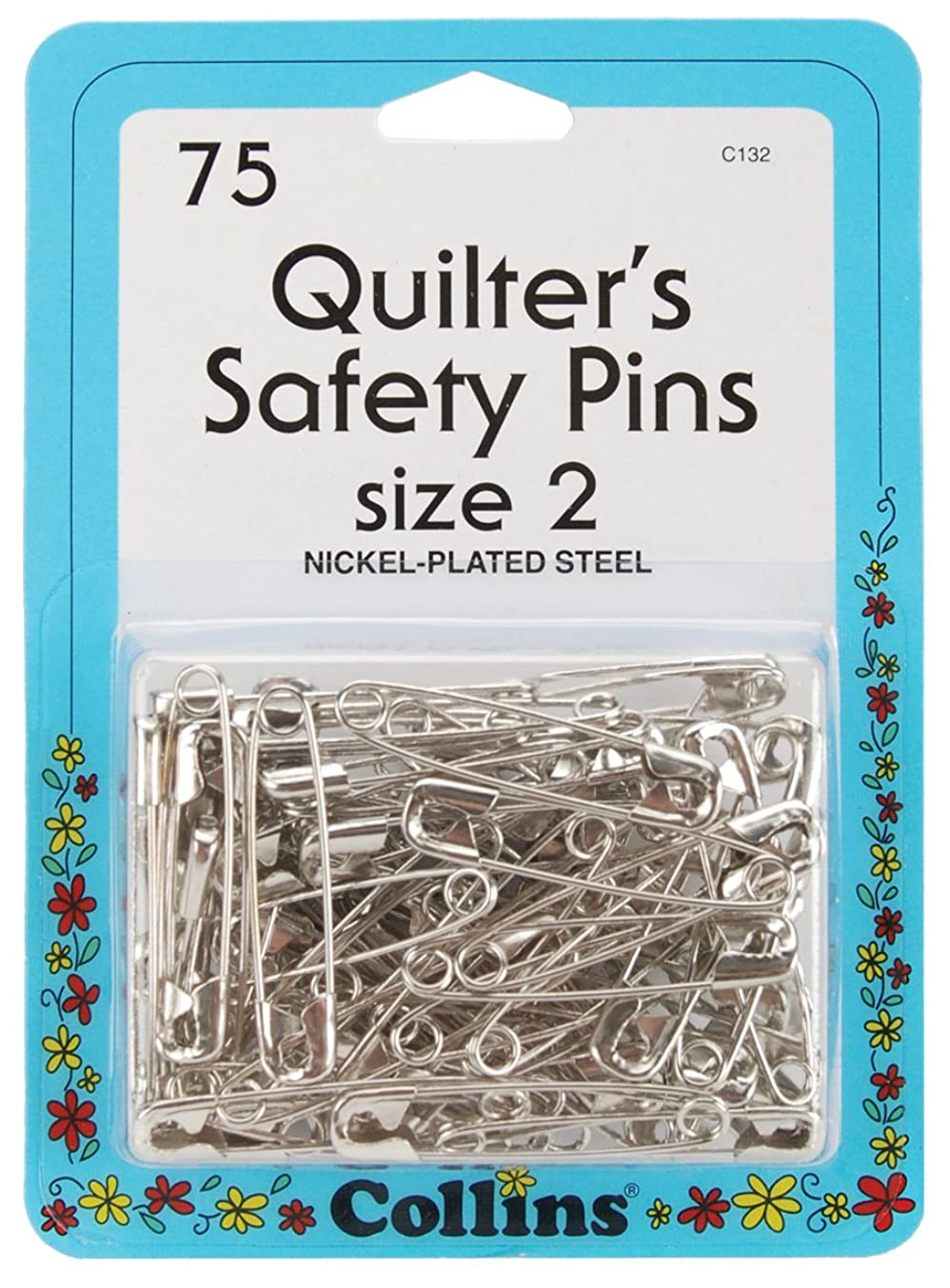 Darice Quilt Safety Pin - Size 2-75 Pieces