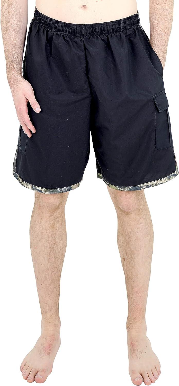 Mossy Oak Men's Cargo Swimwear Board Shorts
