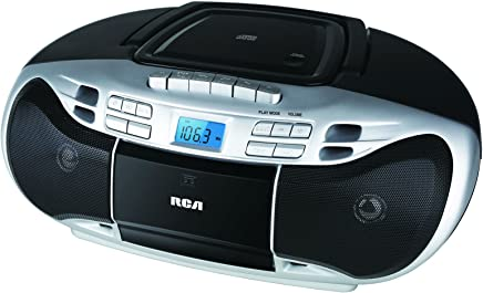7efa4e3f9f0 RCA Portable Stereo CD Boombox with Cassette Tape Player - Digital AM FM  Radio