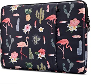 Lamyba Protective Laptop Sleeve for 15.6 Inch Acer Aspire E 15 and HP   Dell   Asus   Thinkpad   Samsung Chromebook Notebook, Shockproof Spill-Resistant Laptop Bag, Flamingo