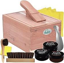 FootMatters Red Cedar Boot & Shoe Care Shine Box