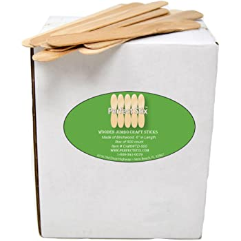 Perfect Stix Jumbo Craft Sticks, Pack of 500ct, Plain Jumbo