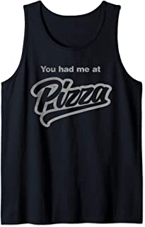 You Had Me At Pizza Funny Vintage Style Food Tank Top