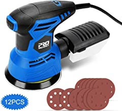 5-Inch Random Orbit Sander with 7 Variable Speed, PROSTORMER 13000RPM Electric Orbital Sander with 12pcs Sander Papers and Effective Dust Collector - Ideal for DIY & Woodworking