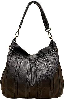 BZNA Bag Lennja schwarz Italy Designer Damen Handtasche Schultertasche Tasche Leder Shopper Neu