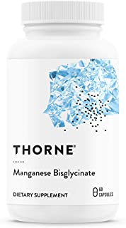 Thorne Research - Manganese Bisglycinate - Essential Mineral Support for Ligaments, Tendons, Joints, and Muscles - 60 Caps...