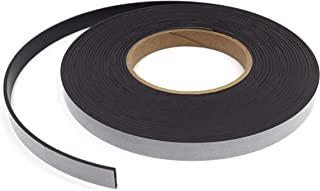 """Flexible, Adhesive Magnetic Tape, 25ft Roll - 0.5"""" x 0.085"""" - Anisotropic - Heavy Duty, Double Coated Rubber 3mil Adhesive..."""