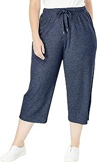 Women's Plus Size Sport Knit Capri Pant