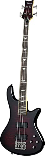 Schecter Stiletto Extreme-4 Bass Guitar (4 String, Black Cherry)