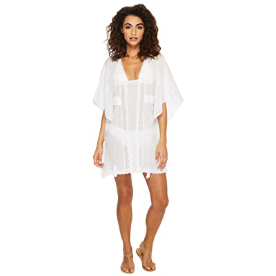 Jantzen Crochet Tunic Cover-Up (White) Women