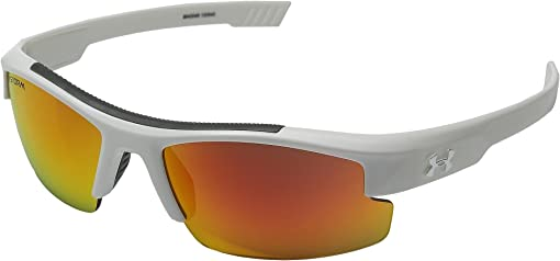 Storm Shiny White/Gray Polarized/Orange Mirror Lens