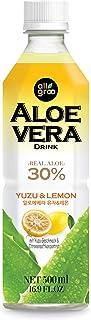 Allgroo Nectar De Aloe Vera Con Yuzu Y Concentrado De Zumo De Limón 520 g - Pack de 12