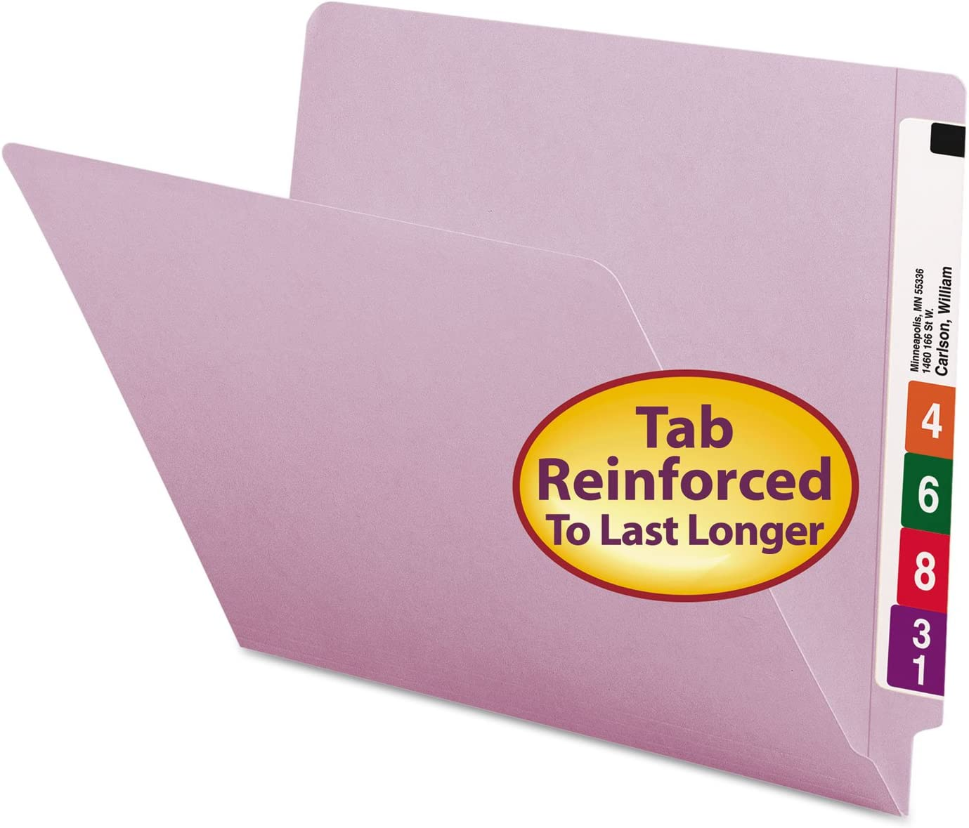 Smead 25410 Colored File Folders Cut Straight Tab End Reinforced Free shipping Same day shipping