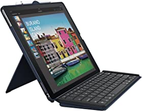 Logitech iPad Pro 12.9 inch Keyboard Case | SLIM COMBO with Detachable, Backlit, Wireless Keyboard and Smart Connector (Blue) for 1st and 2nd generation