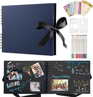 Album Photo Scrapbooking,Albums Photos Personnalisable,80 Pages Scrapbooking Livre Kit Avec 12 Stylos Métalliques,Albums P...