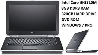 Dell Latitude E6430 14.1-Inch Business Laptop PC, Intel Core i5 2.6GHz Processor, 8GB DDR3 RAM, 320GB HDD, DVD, Windows 10 Professional (Renewedd)