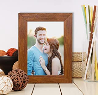 Art Street Side Table Photo Frame ( Brown)