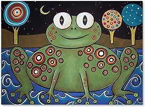 Night Frog by Karla Gerard, 14x19-Inch Canvas Wall Art