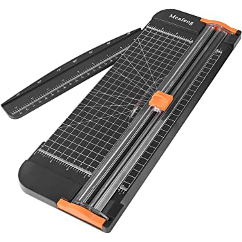 Meafeng A4 Paper Cutter 12 Inch Craft Paper Trimmer Scrapbooking with Automatic Security Safeguard and Side Ruler for Photo Cutter, Handcraft Project, Label, Greeting Card … (Black)