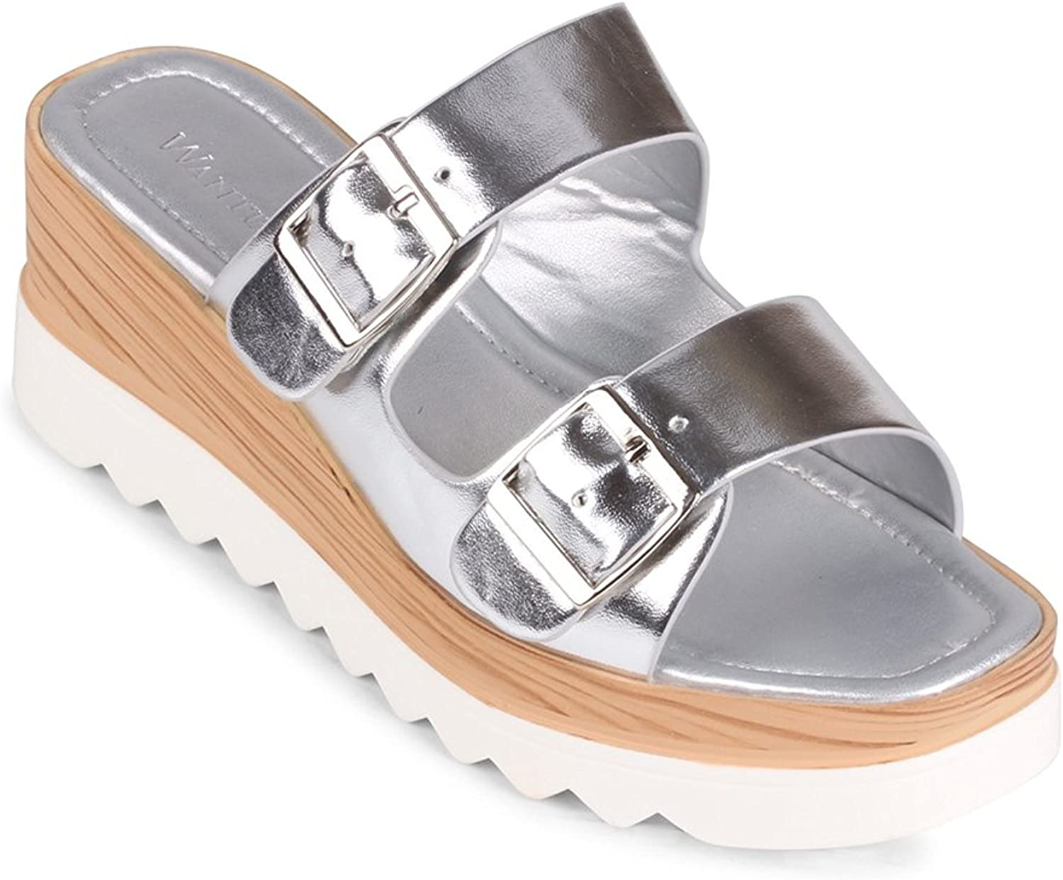 Wanted  Branson  Buckled Platform Sandals