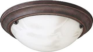 Progress Lighting P3480-33 Close-to-Ceiling Semi-Flush Fixture with Faux Tiffany Art Glass, Cobblestone