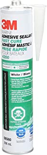 3M Marine Adhesive/Sealant Fast Cure 4200, 06560 , White, 1/10 Gallon