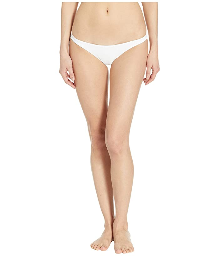 Vitamin A Swimwear Luciana Full Coverage Bottom (White Ecolux) Women