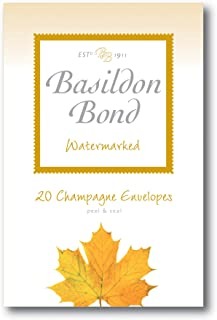Basildon Bond Champagne Envelopes - Watermarked - Pack of 20 - Size 143mm X 95mm