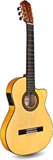 Cordoba 55FCE Thin Body Cutaway Classical Acoustic-Electric Nylon String Guitar, Espana Series (made in Spain) with Humidified Hardshell Case