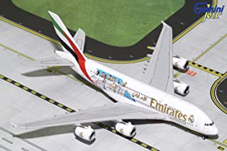 GeminiJets Emirates A380 A6-EUG Real Madrid 1:400 Scale Diecast Model Airplane, White