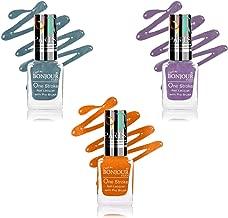 Bonjour Paris True Color Nail Polish, Blue/Orange/Purple, 9ml (Pack of 3)