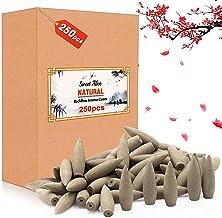 XinXu Agarwood Backflow Incense Cones,250 Pcs Natural Scents Backflow Cone for Meditation