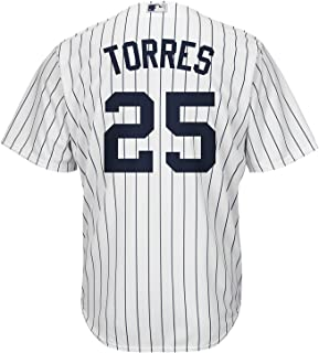 Gleyber Torres New York Yankees White Kids Cool Base Home Replica Jersey